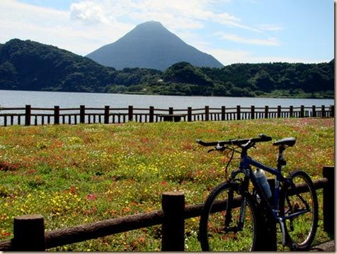 池田湖1周サイクリング・池田湖駐車場付近