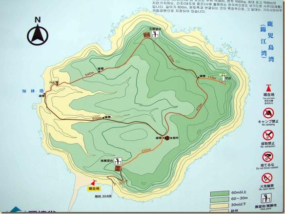 知林ヶ島遊歩道マップ